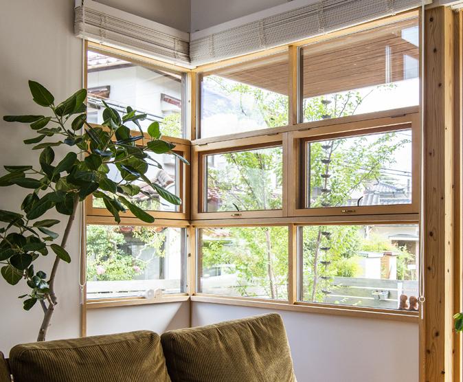 コーナー窓;