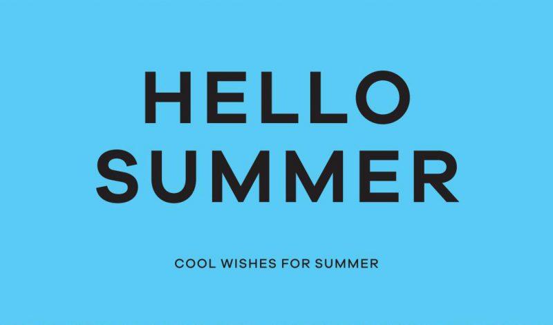 夏季休暇。;